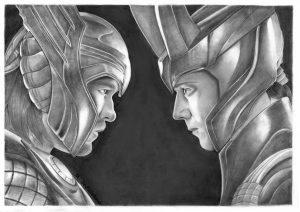 Thor and Loki - scan- upravený s menom